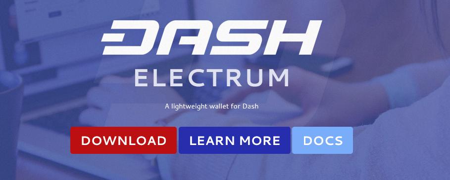 Посещаем сайт electrum.dash.org.